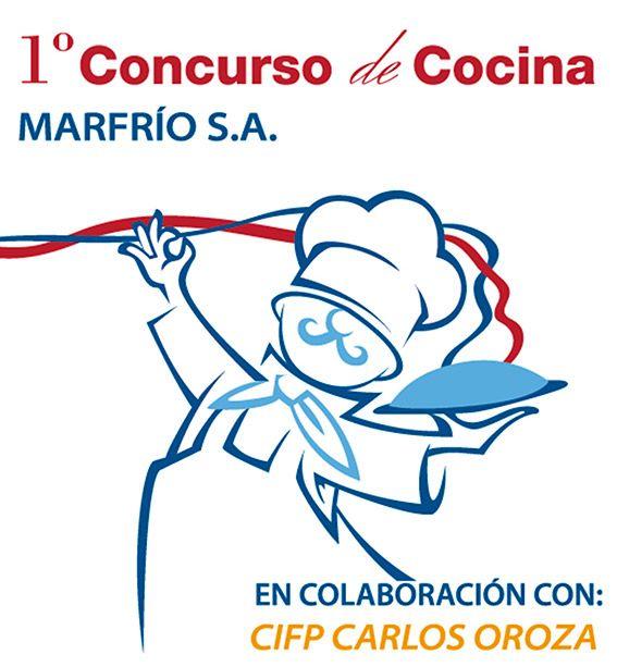 Primer concurso de cocina organizado por Marfrio en colaboración el con CIFP Carlos Oroza, incluye ilustración de cocinero