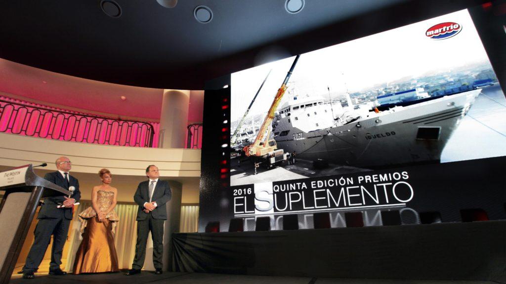 Santiago Montejo y Ramón Abeijón, director general y comercial de Marfrio, en la V gala de los premios suplemento