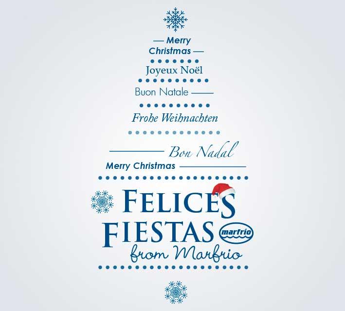 Feliz Navidad y felices fiestas desde Marfrio