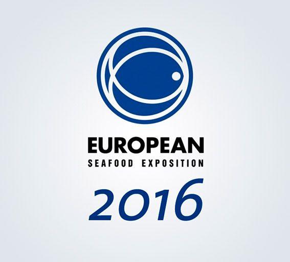 Logo European Seafood Exhibition de Bruselas