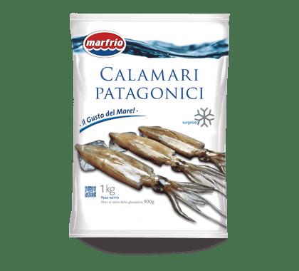 Bolsa de calamar patagónico entero, 1 kg