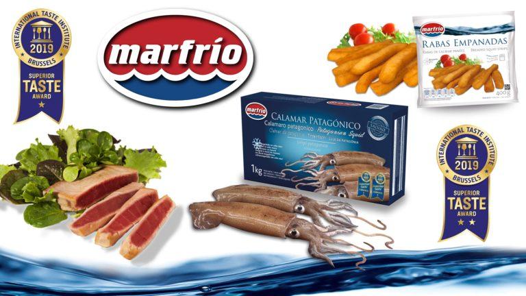Productos premiados ITQI marfrio, calamar y atún y raba empanada