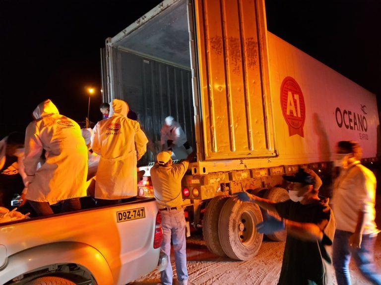 Acción solidaria entrega de víveres a las personas más vulnerables por la crisis del COVID 19 en Paita