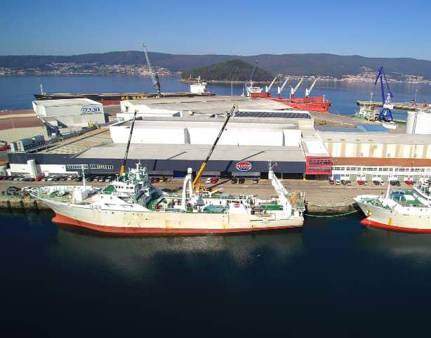 Marfrio España, sede en el puerto de Marín