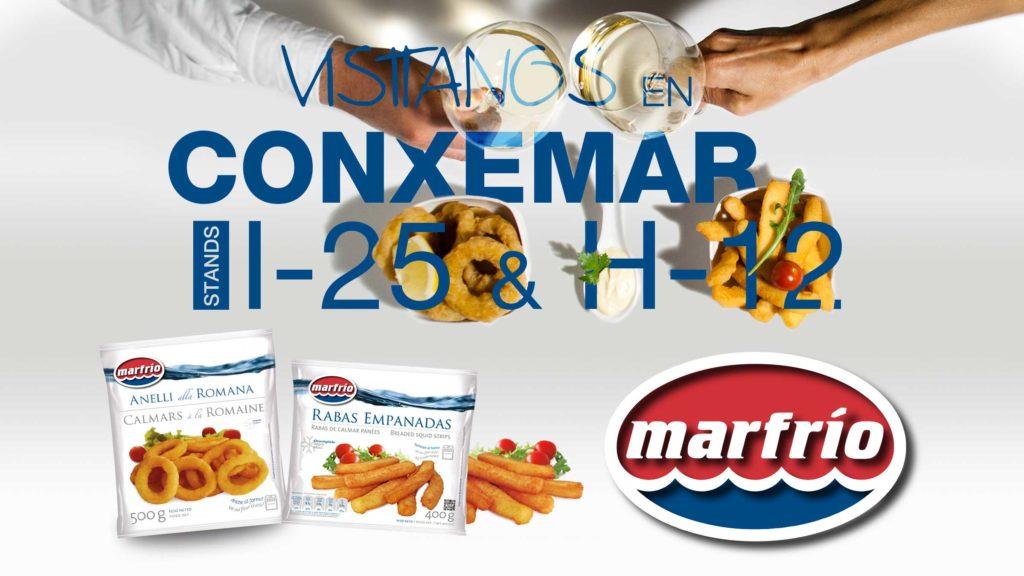 Banner participación Marfrio (stand I25) y Marfrio Perú (Stand H-12) en Conxemar 2017