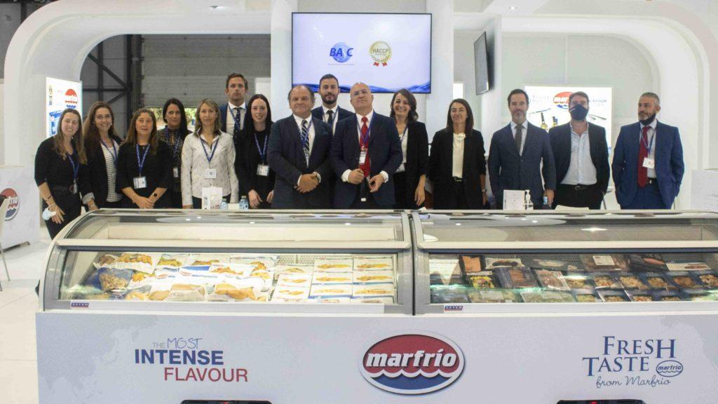 Parte del equipo Marfrio en el primer día de feria de Conxemar 2021