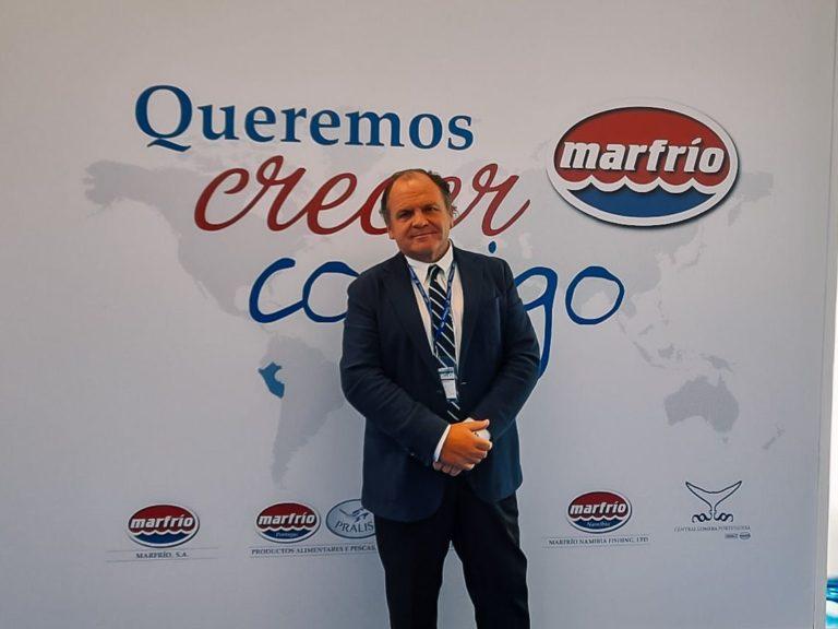Santiago Montejo, director general de Marfrío, en el stand B25, Conxemar 2021